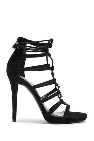 Forever21 Velvet Stiletto Sandals