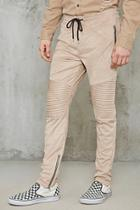 Forever21 Faux Suede Zippered Moto Pants