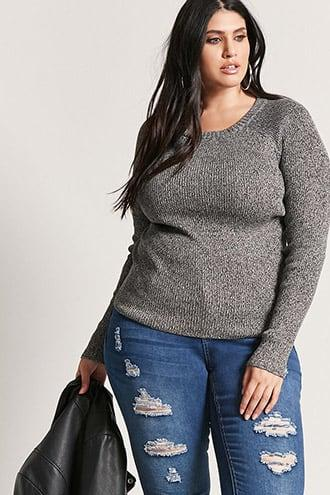 Forever21 Plus Size Marled Knit Sweater