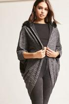 Forever21 Hooded Cocoon Cardigan