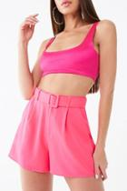 Forever21 Belted Pleated Shorts