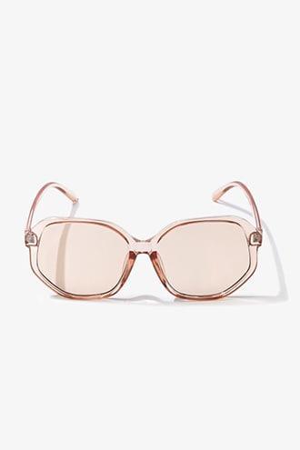 Forever21 Transparent Square Tinted Sunglasses
