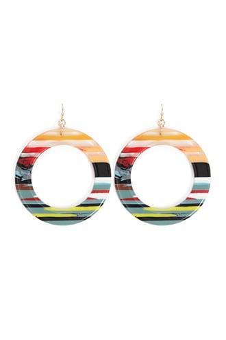 Forever21 Multicolor Cutout Hoop Earrings