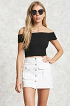 Forever21 Buttoned Denim Mini Skirt