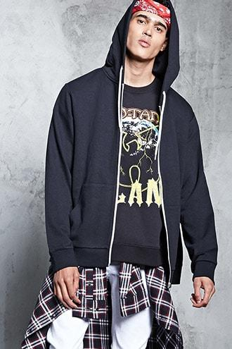 Forever21 Classic Zip-front Hoodie