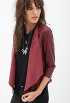 Forever21 Faux Leather Crochet Jacket