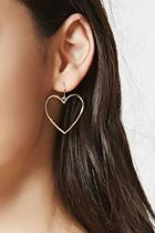 Forever21 Cutout Heart Drop Earrings