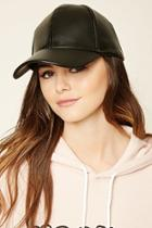 Forever21 Faux Leather Dad Cap