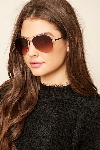 Forever21 Gradient Aviator Sunglasses