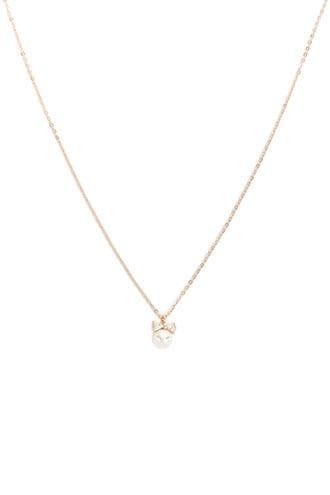 Forever21 Faux Pearl & Rhinestone Pendant Necklace