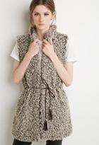 Love21 Longline Faux Fur Vest