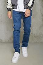 21 Men Men's  Medium Denim Clean Wash Slim-fit Jeans