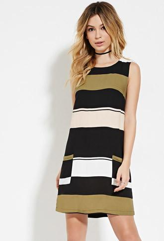 Forever21 Women's  Three Of Something Formlines Journey Dress