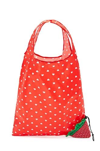 Forever21 Strawberry Foldable Tote