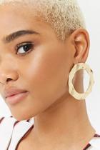 Forever21 Hammered Drop Hoop Earrings