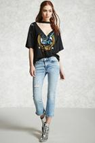 Forever21 Distressed Cropped Jeans