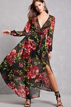 Forever21 Floral Chiffon Maxi Dress