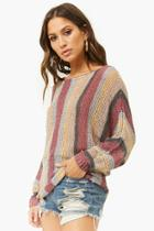 Forever21 Striped Knit Dolman Sweater
