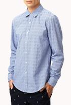 21 Men Classic Fit Textured Gingham Shirt