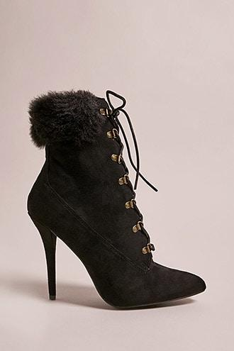 Forever21 Faux Suede Stiletto Boots