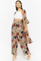 Forever21 Floral Jacket & Pants Set