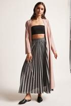 Forever21 Pleated Metallic Maxi Skirt