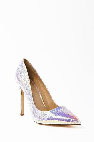 Forever21 Faux Croc Leather Pumps