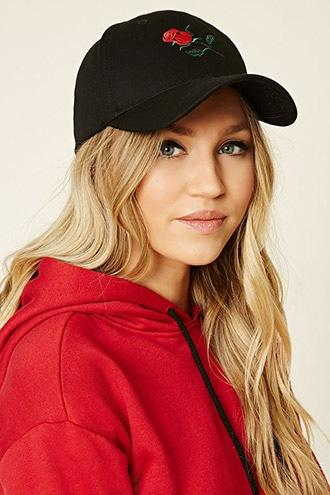 Forever21 Feelings Embroidered Cap