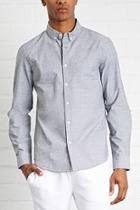 21 Men Men's  Button-collar Cotton Shirt