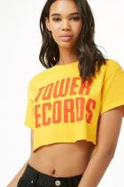 Forever21 Tower Records Boxy Cropped Tee