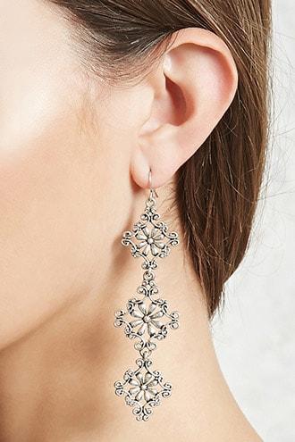 Forever21 Brocade Drop Earrings