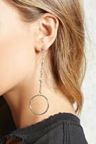 Forever21 Cross Hoop Drop Earrings