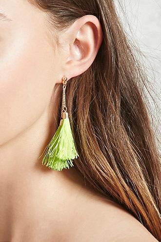 Forever21 Fringe Tassel Drop Earrings