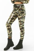 Forever21 Sequin Camo Varsity Joggers
