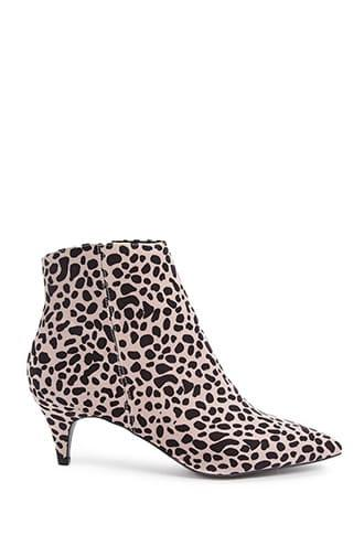 Forever21 Qupid Leopard Print Booties