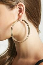 Forever21 Thick Drop Hoop Earrings