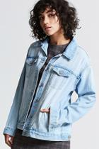 Forever21 Premium Washed Denim Jacket