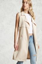Forever21 Longline Woven Vest