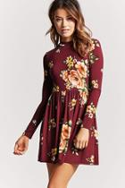 Forever21 Floral Cutout Dress