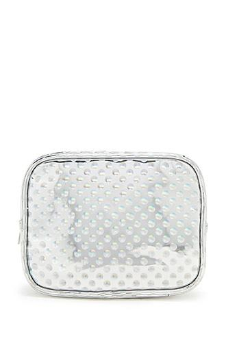 Forever21 Holographic Dot Makeup Bag