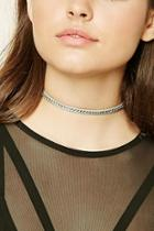Forever21 Faux Leather Rhinestone Choker