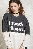 Forever21 Dip-dye Graphic Sweatshirt
