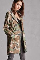Forever21 Hooded Camo Utility Jacket