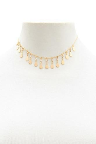 Forever21 Teardrop Charm Necklace