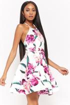 Forever21 Floral Halter Fit & Flare Dress