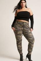 Forever21 Plus Size Camo Print Joggers