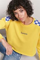 Forever21 Checkered Graphic Sweatshirt