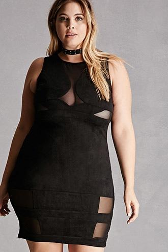 Forever21 Plus Size Faux Suede Dress