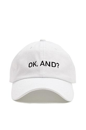 Forever21 Ok Embroidered Dad Cap