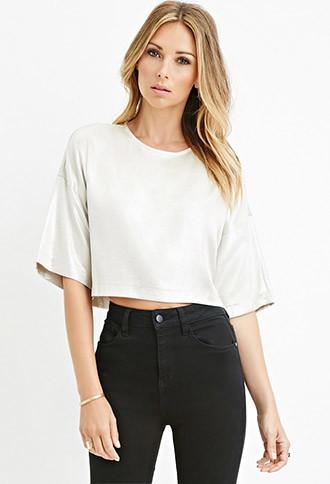 Love21 Boxy Metallic Top